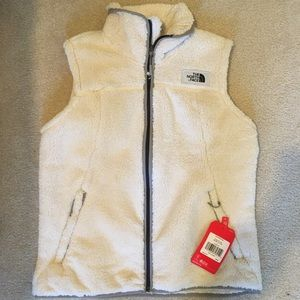 Fuzzy North Face Vest